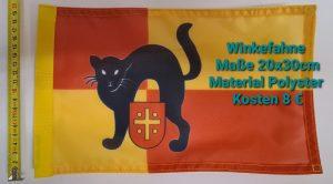 Fahne-Katze